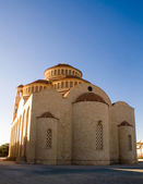 Greece christian church on blue sky — Stock Photo