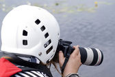 Photographer shooting — Stock Photo