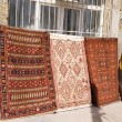 Turkish carpet bazaar in Istanbul - Stock Photo