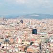 Panoramic view of Barcelona roofs - Stock Photo