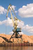 Harbor crane — Stock Photo