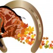 Stock Vector: Autumn horse