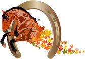 Autumn horse — Stock Vector