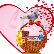 Love background with bird - 