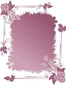 Frame met bloemen — Stockvector