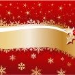 Stock Vector: Christmas background with snowflakes