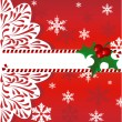 Vector de stock : Christmas background with berries
