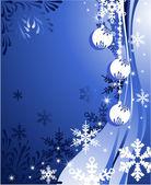 Jul bakgrund med bollar — Stockvektor