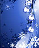 圣诞背景与球 — 图库矢量图片