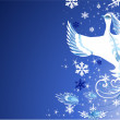 Vector de stock : Christmas snow bird