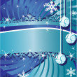 Christmas background with balls — Stock Vector