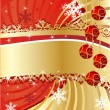 Vector de stock : Christmas background with balls