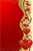 Sevgililer tebrik kartı — Stok Vektör