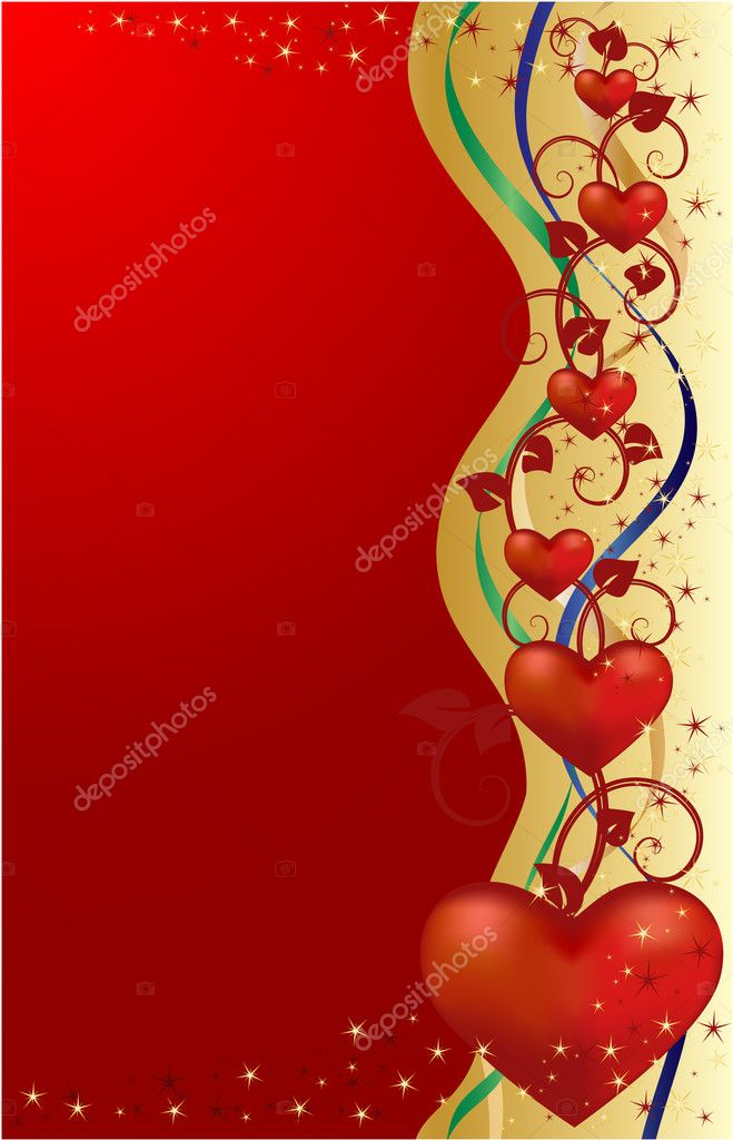 Valentines greeting card — Vettoriali Stock  #1360324