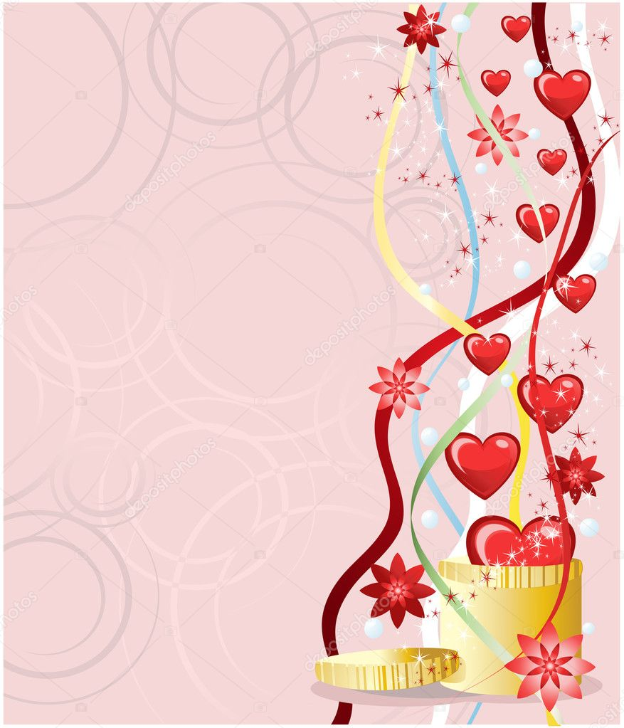Valentines greeting card — Stockvectorbeeld #1380118