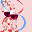 Valentines greeting card, vector illustr - Imagen vectorial