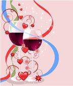 Tarjeta de felicitación de san valentín, vector illustr — Vector de stock