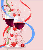 Valentinstag-grußkarte, vektor-illustration — Stockvektor