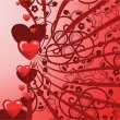 Vector de stock : Valentines greeting card