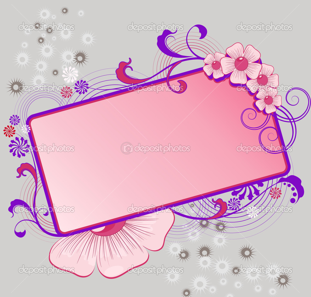 Colorful floral frame for text  with flowers and leafs  Stock Vector #2428332