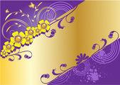Kleurrijke achtergrond met bloemen — Stockvector
