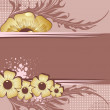 Vector de stock : Floral frame for text