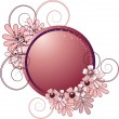 Round frame with flowers - Imagen vectorial