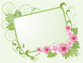 Floral frame for text — Stock Vector