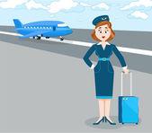 Stewardess — Stock Vector