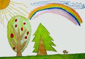 Sunshine rainbow from the dream — Stock Photo