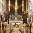 Golden altar in church - Stock Photo