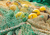 Fishing ropes with floats — Stock Photo