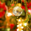 Stock Photo: Christmas disco ball decoration