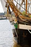 Irish historic tall ship — Stock Photo
