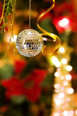 Christmas disco bauble — Stock Photo