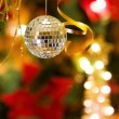 Stock Photo: Christmas disco bauble