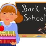 Vector Back to school in September. — Stock Vector