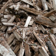Stock Photo: Scattered Woodpile of Pine Firewood