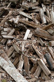 Scattered Woodpile of Pine Firewood — Stock Photo