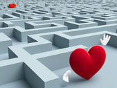 Two Hearts In A Maze — Stock Photo