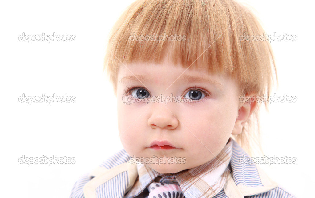 Photo of adorable young boy looking at camera — Stock Photo #1137969
