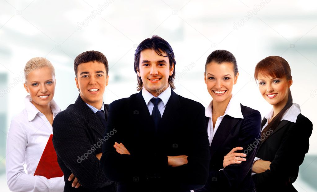 Leader and her team — Stock Photo #1139192