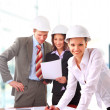 A group of architects discussing - Stock Photo