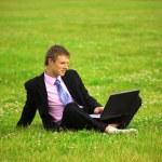 Businessman working — Stock Photo