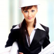 Attractive lady architect — Stock Photo #1147577
