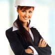 Attractive lady architect - Stock Photo