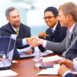 Business shaking hands - Stock Photo