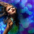 Beautiful dancing girl — Stockfoto