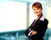 Positive business woman — Stock Photo