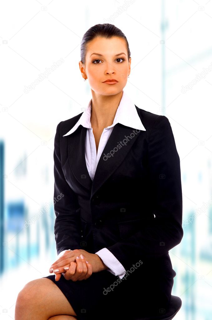 Business woman. Isolated over white background — Stock Photo #1143662